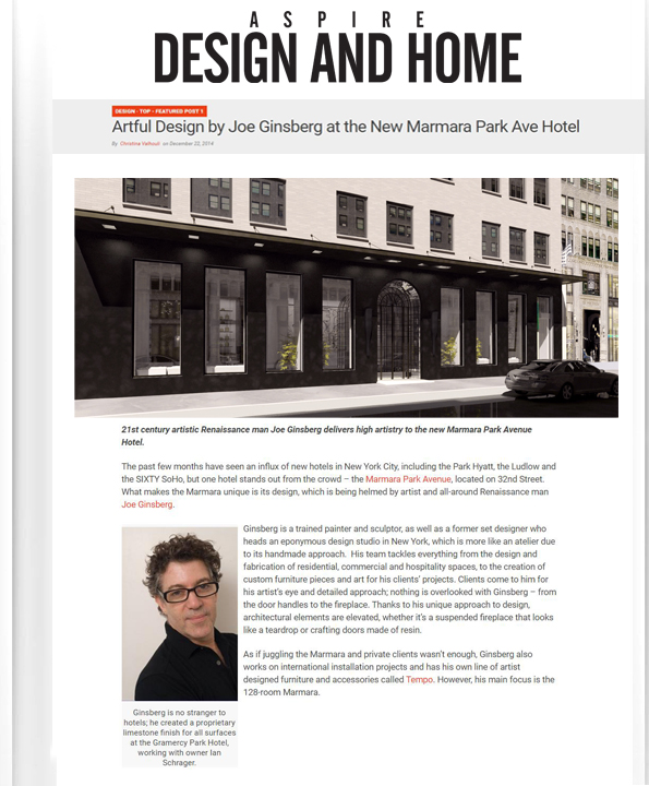 Best Hospitality Designers New York, NY | Joe Ginsberg Design  | 10012
