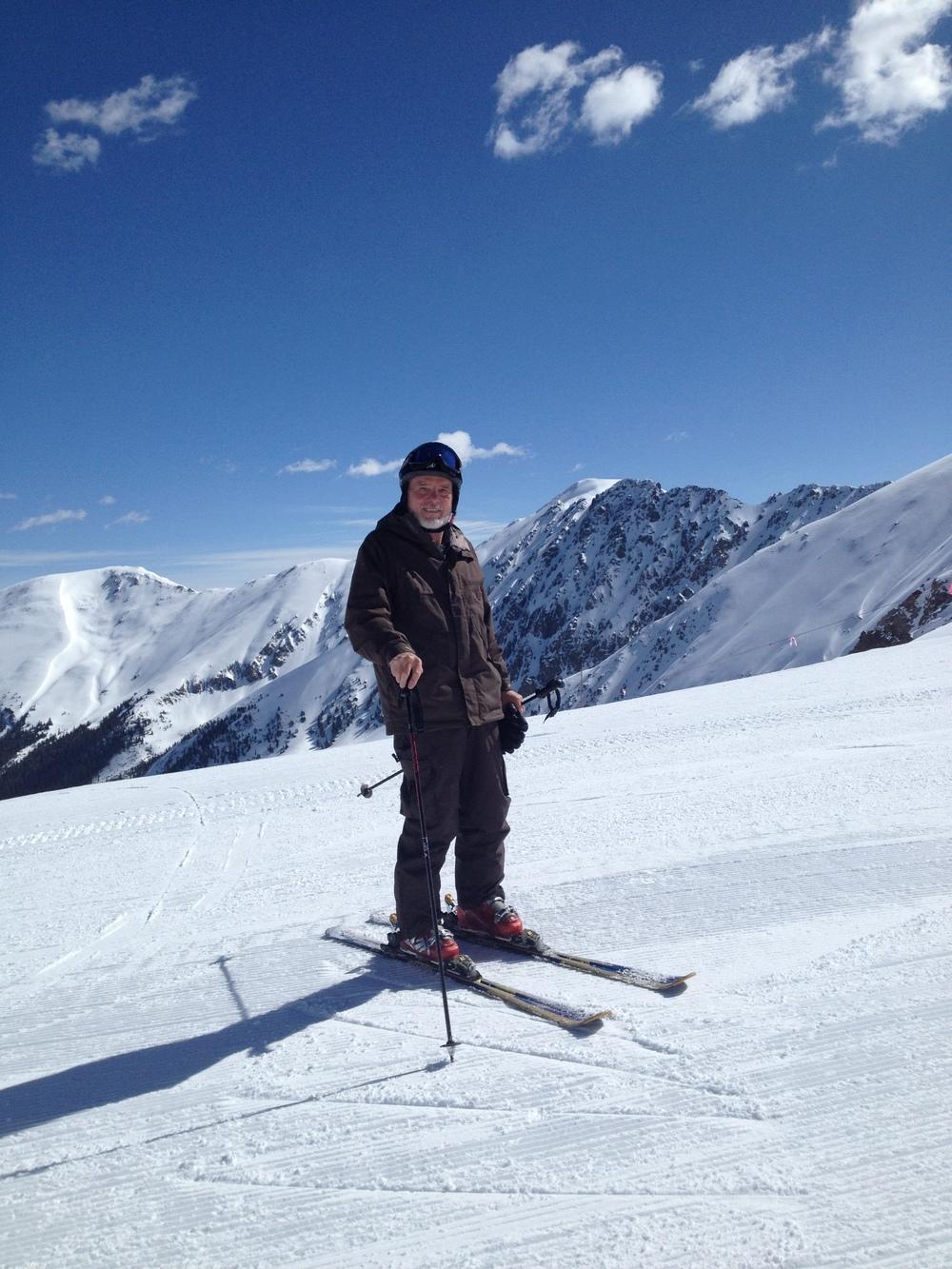 Bob skiing Arapahoe Basin