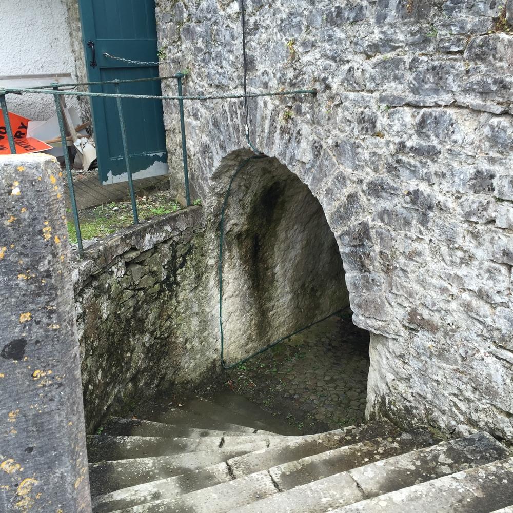 An Entrance to an Underground Passageway