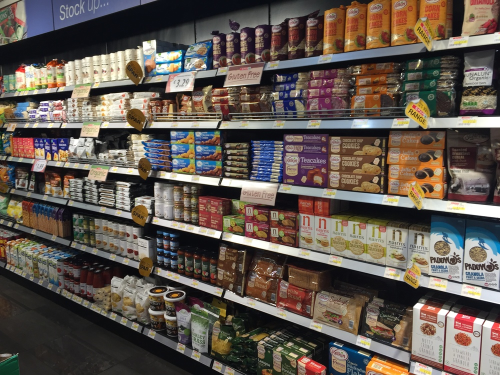 The amount of GF products trumped the organic ones at this supermarket.