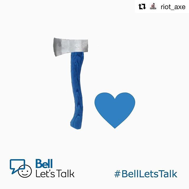 Now this is something we can get behind as well. Nice one @riot_axe! #endthestigma #bellletstalk #mentalhealth #adventurewithin  @bell_letstalk