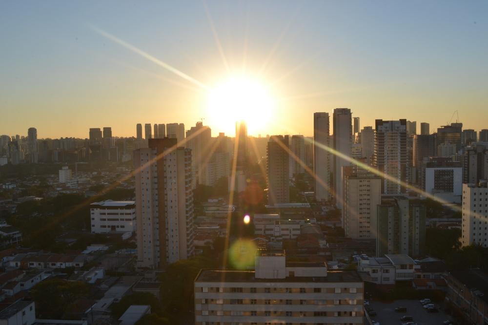 Por do sol paulistano, era um refúgio <3
