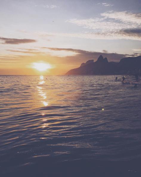 Por do sol Rio de Janeiro