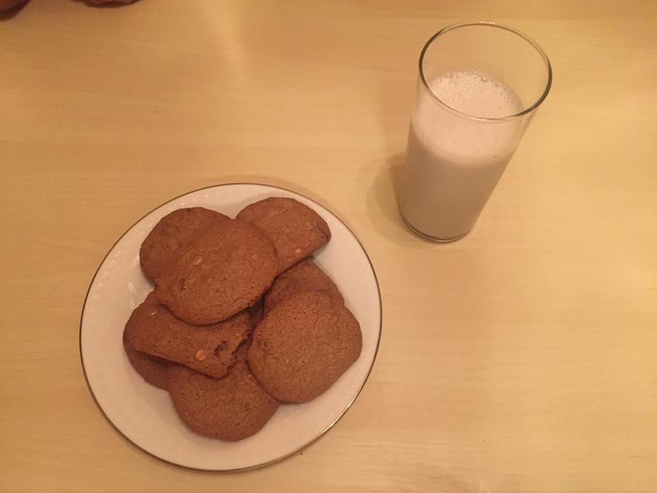 cookies de aveia e chocolate chip