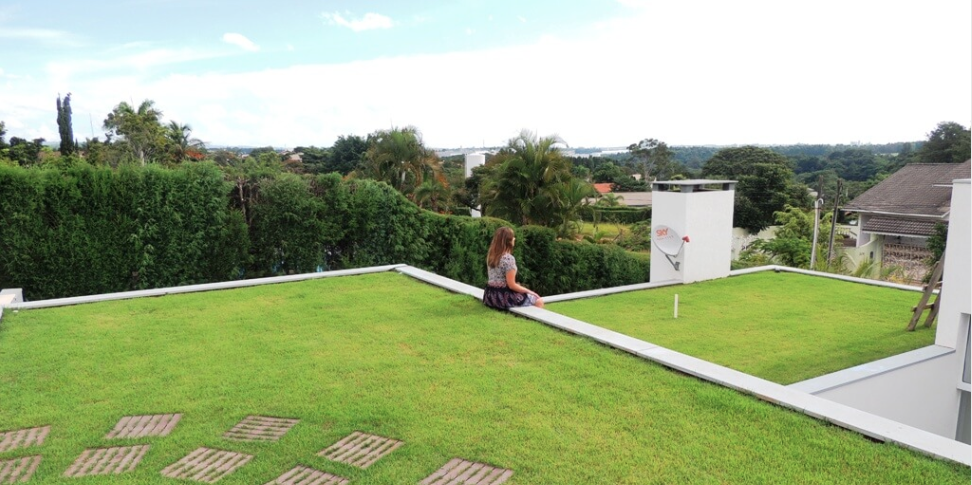 Jardim no telhado!