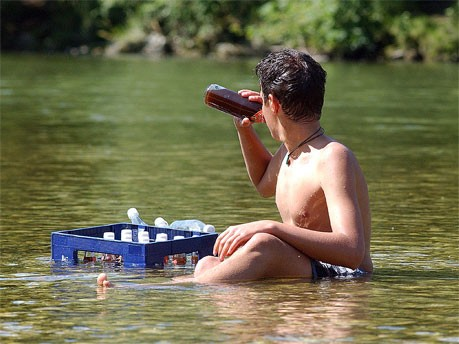 de boa na lagoa...quer dizer, no rio