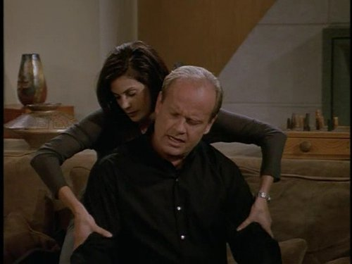 Frasier getting a massage from Teri Hatcher I'm like 70% sure.