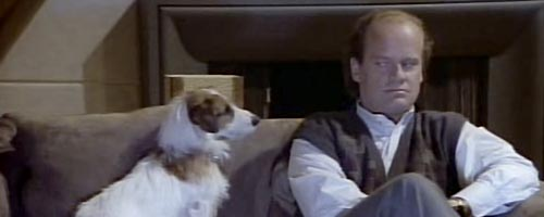 I love how Frasier looks like a classical composer in the first season like 24/7.