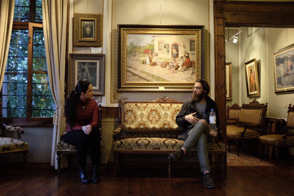 Stopped by the Philippopolis Art Gallery & Museum. We spoke with Anna-Marie for a couple of hours about cultural differences between Bulgaria & America.