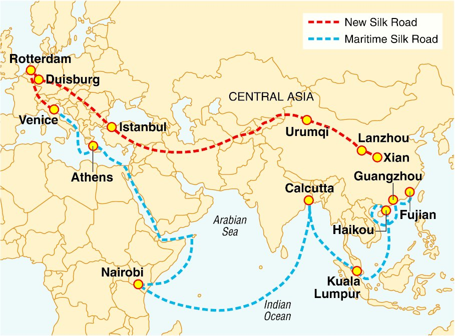 Mapping China's New Silk Road