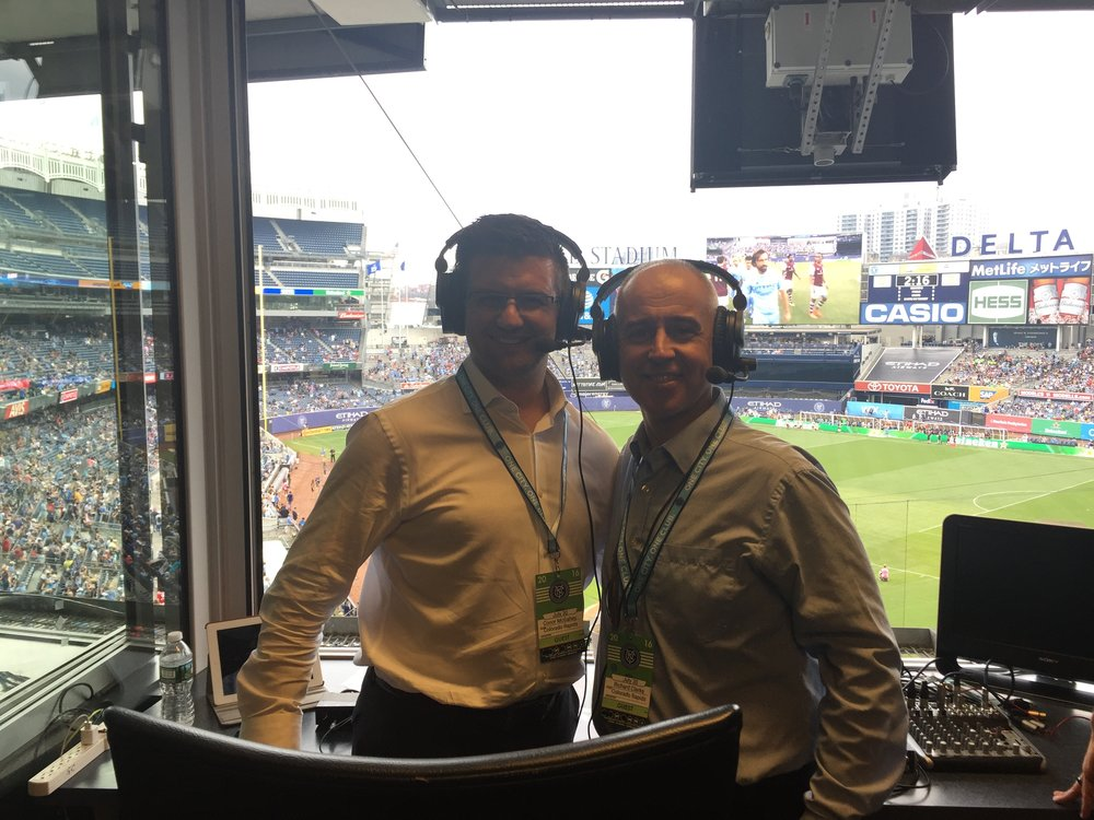 Commentating at Yankee Stadium was a highlight