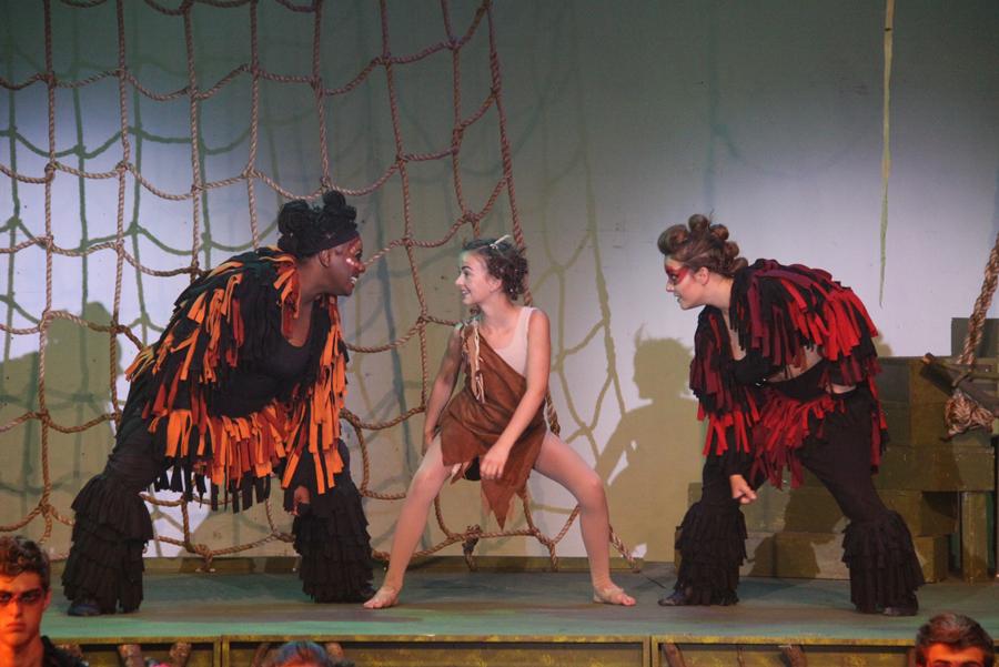 Chanel Bragg (Kala), Kaylin Poirier (Young Tarzan), Hailey Stone (Turk) photography by: Courtney Foxworthy