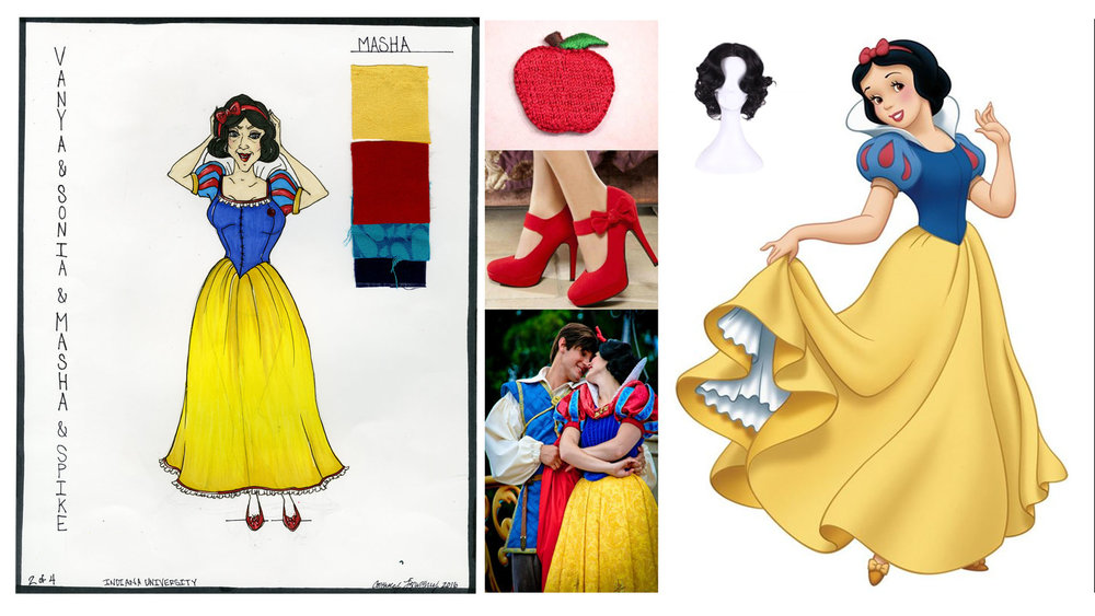 Masha look 2 Snow White costume. This costume was built and rigged for a 1 minute quick change.
