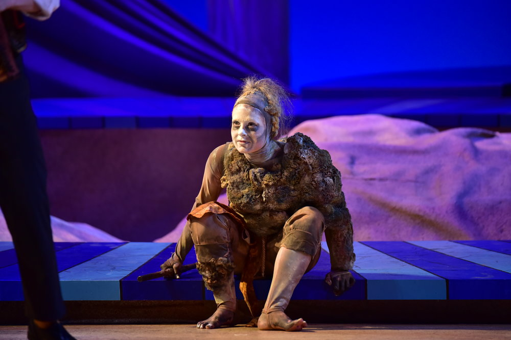 Ashley Dillard as Caliban. Photo by Courtney Foxworthy
