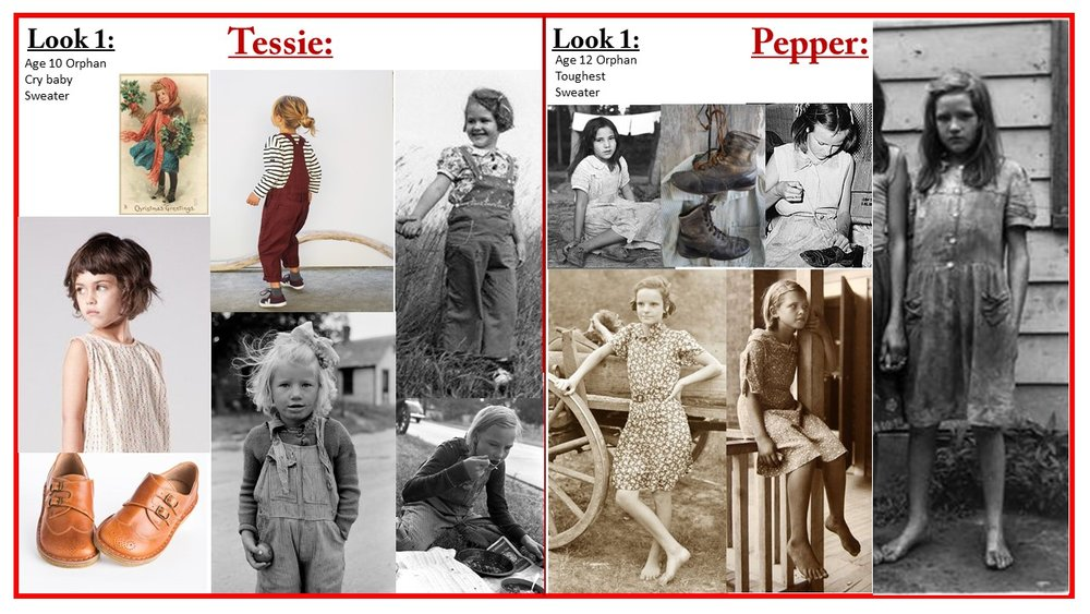 Character research: Tessie and Pepper