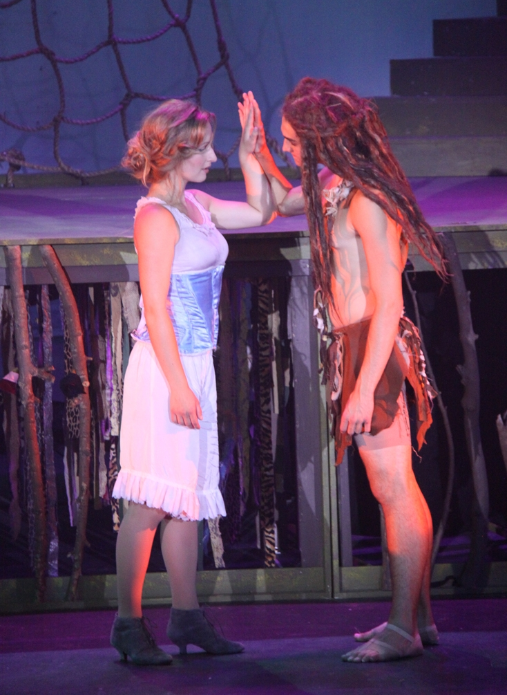 Taylor Caprara (Jane) & E.J. Dohring (Tarzan) Photography by: Courtney Foxworthy