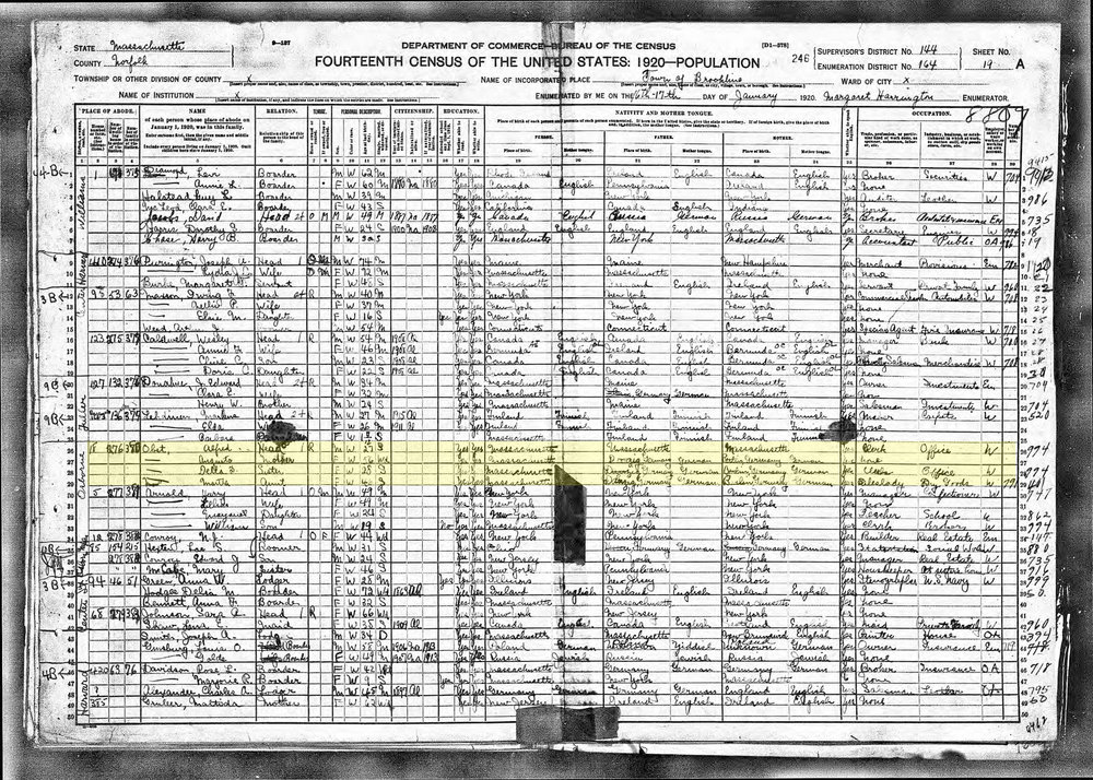 Stella Obst_Census 1920
