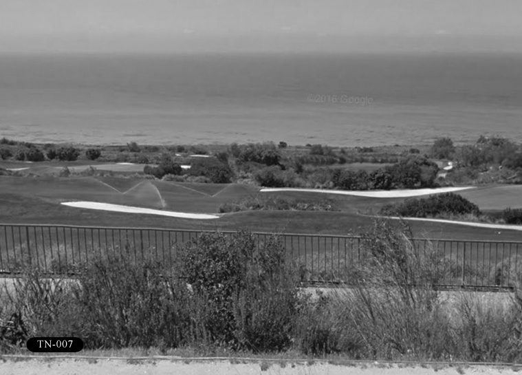 TN-007: Trump National Golf Club, 1 Trump National Dr, Rancho Palos Verdes, CA 90275. View from Palos Verdes Dr S.
