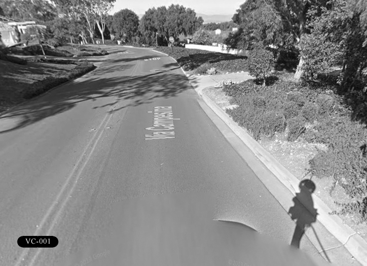 VC-001: Via Campesina. East-west roadway that runs alongside Palos Verdes Golf Club.