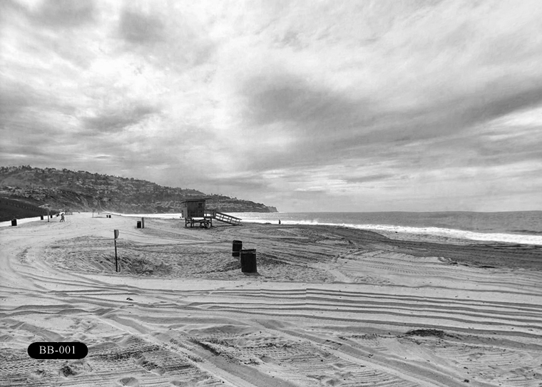 B-001: Burnout Beach. Located north of Malaga Cove (MC) and Rat Beach (RB).