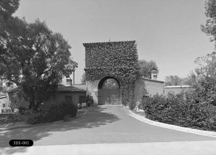 HH-001: Harden House Entrance Gate, 5500 Palos Verdes Dr S, Rancho Palos Verdes, CA 90275.
