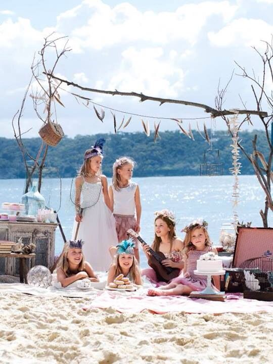 Girls party idea boho beach