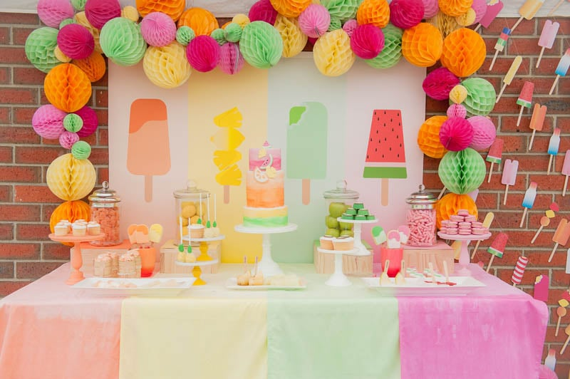 Summer fruit kids party