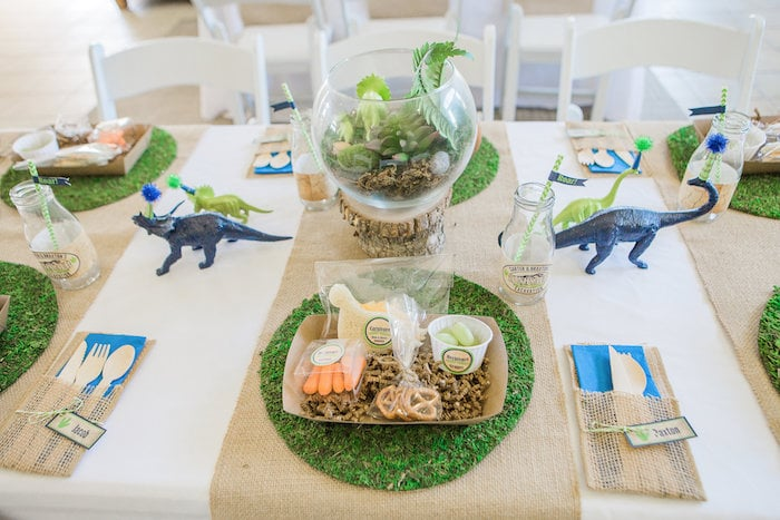 Dinosaur tablescape