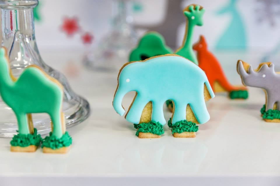 Zoo party biscuits