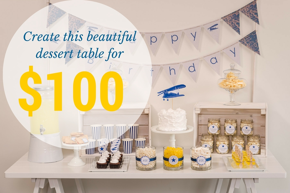 Create this beautiful dessert table for under $100 with Something Wonderful Happened