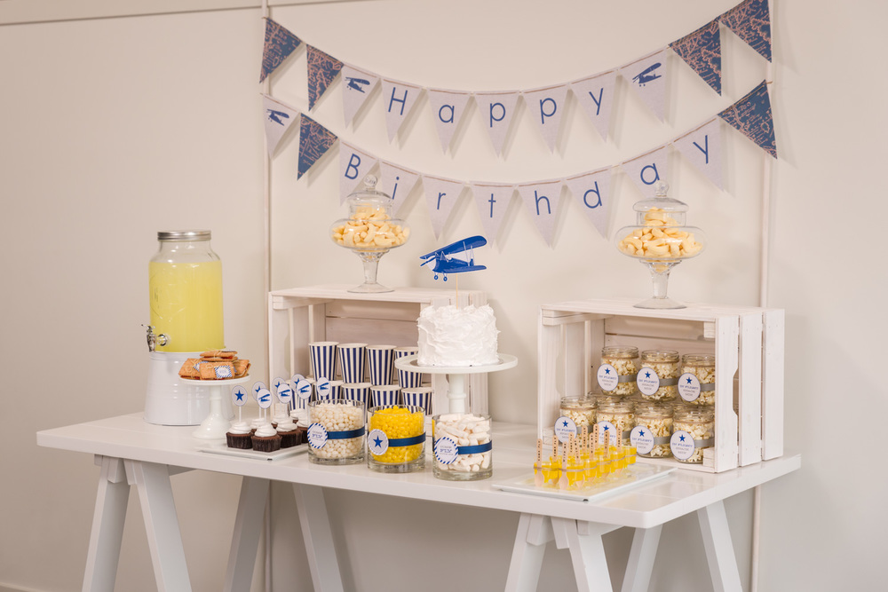 Vintage airplane party by Something Wonderful Happened