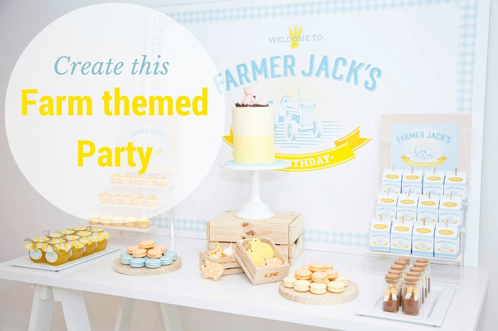 Farm themed kids party by Something Wonderful Happened