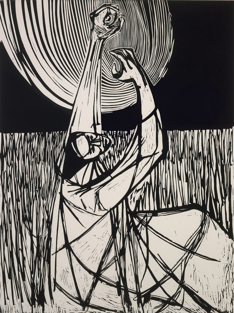 Field,  1968, linocut print, 24 x 18 inches, 61