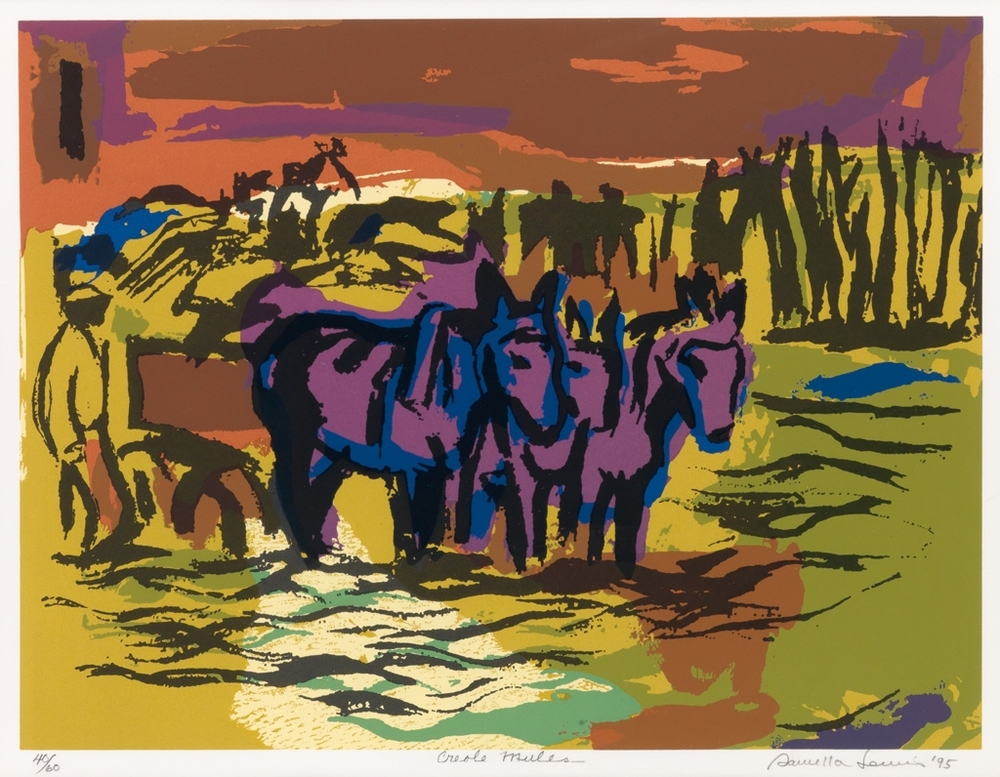 Creole Mules,  1995 ,  Serigraph, 14 ¾ x 19 ½