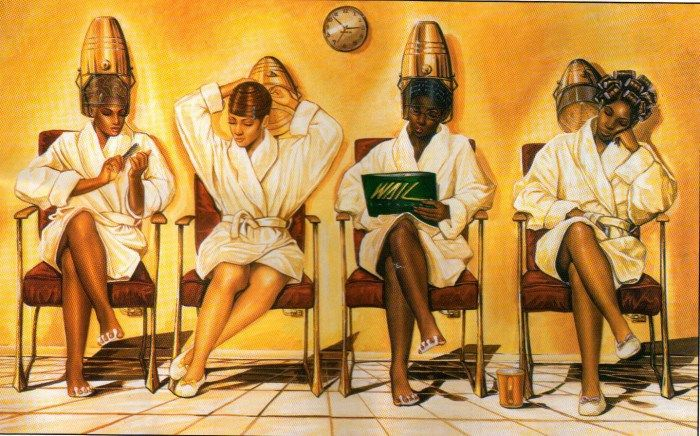 Doing Time by Kevin A. Williams. I grew up with this painting in my hair salon.