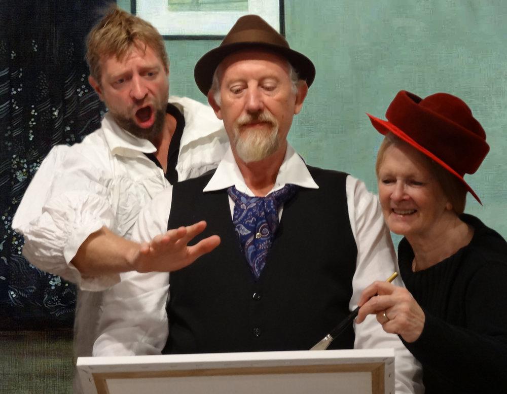 Trevor Mills, Brent Kerr and Margie Gemmell