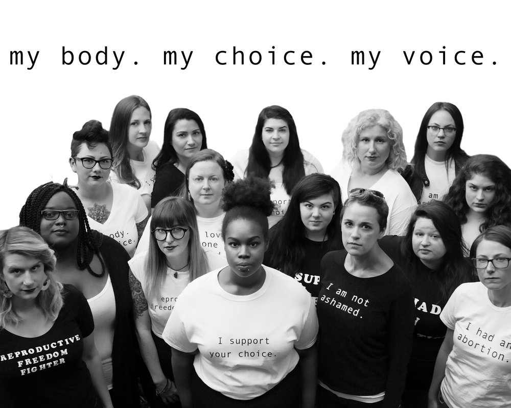 In late November 2016 I had the honor of spending the day with 17 women to talk about our reproductive rights and freedoms and document their stories.   Whether you've had an abortion yourself, love someone who has, or think it's a choice you'd never make for yourself it's important to support the rights of other women to choose what is best for their lives, families, and bodies.   The power of motherhood includes being able to choose when the time is right. When the time isn't and even when very wanted pregnancies are unsafe to continue.   Keeping abortion safe, accessible, and legal is important to us. Whether they are, or aren't, they'll happan anyway. History has shown us that much.