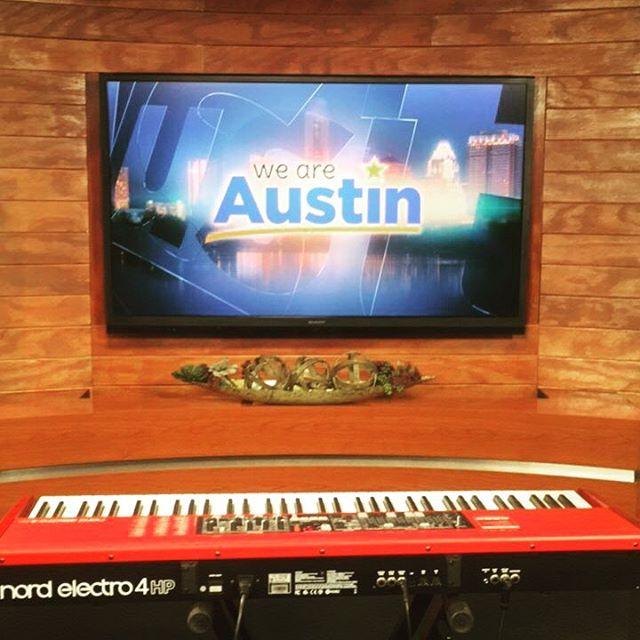 Filming for a future @weareaustin segment today to promote the new tunes and direction! #austin #cbs #weareaustin #songwriter #atx #atxmusic #singer #singersongwriter