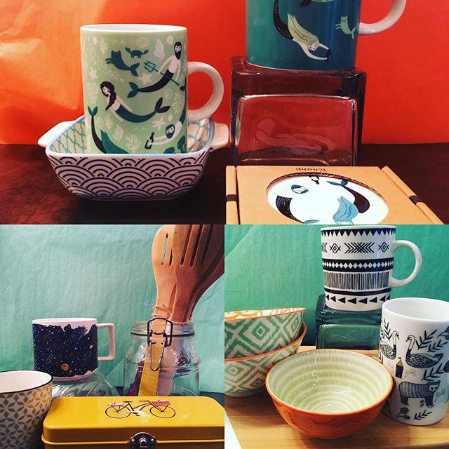 Nouvel arrivage des petites perles de Danica Studio? Vous trouvez pas que ça sent le printemps! Venez nous voir une boutique, ceci n'est qu'un petit aperçu...#lesemballees #rosemont #mtl #beaubienest #danicastudio #mermaid #vaisselle #tasse #mug #cute