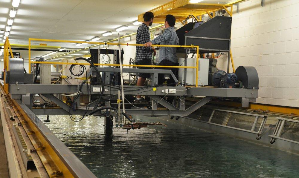 MAKO turbine undergoing tank testing at AMC