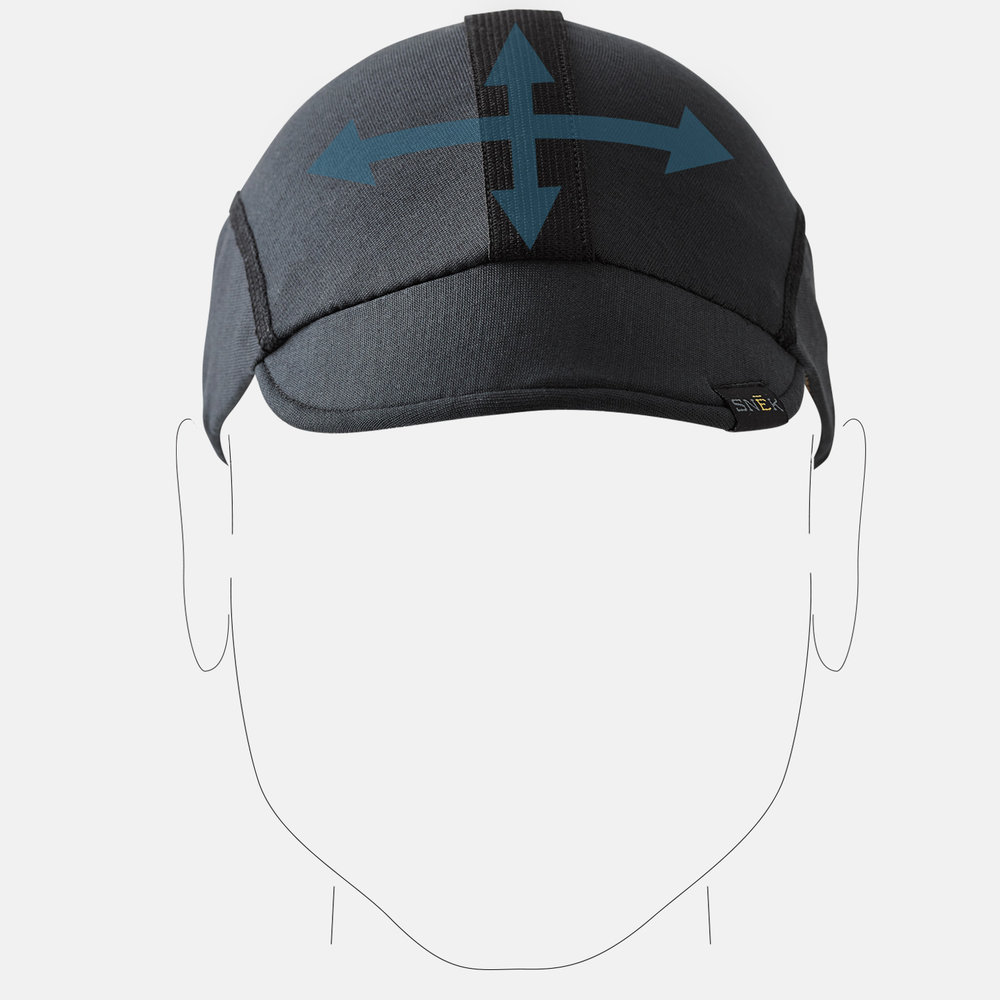 4 way stretch knit material provides a soft comfortable fit that conforms to your head.