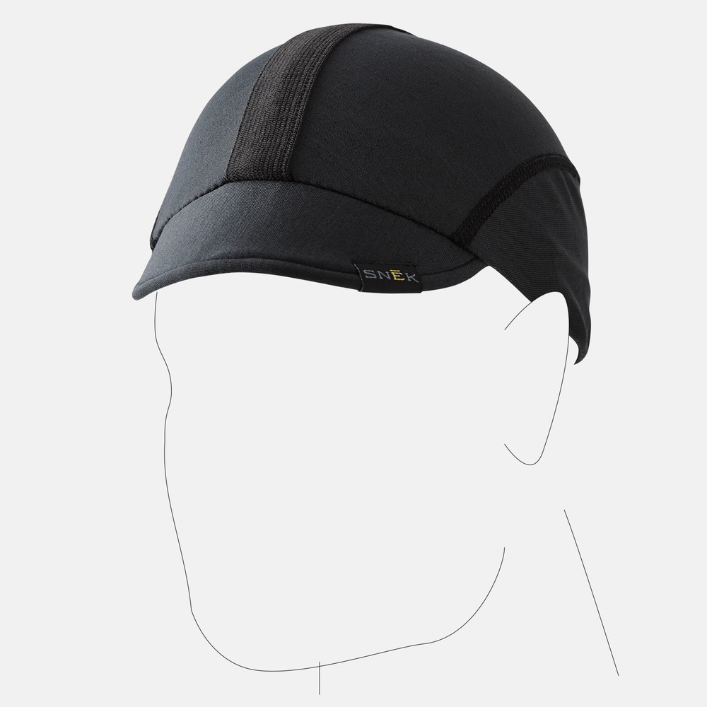 Minimal flatlock stitch keeps cap bulk down, and the stripe ads style while still stretching with the fabric for a comfortable & stylish skull cap.