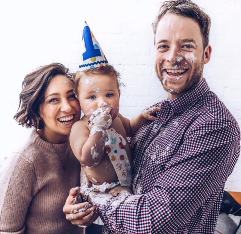 Zoë with husband Hamish & Son, Sonny.