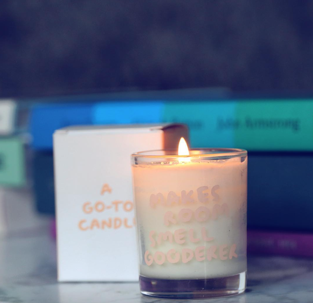 The latest addition to Go-To, scented candles.