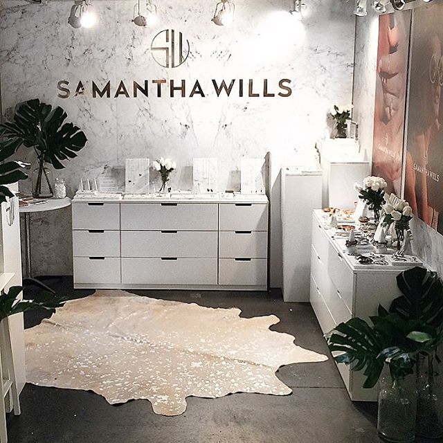 The SAMANTHA WILLS pop up at Coterie Trade show in NYC, by Jena Weir Sales