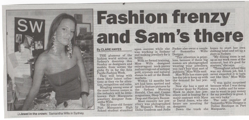 A news article, published a week before Fashion Week.