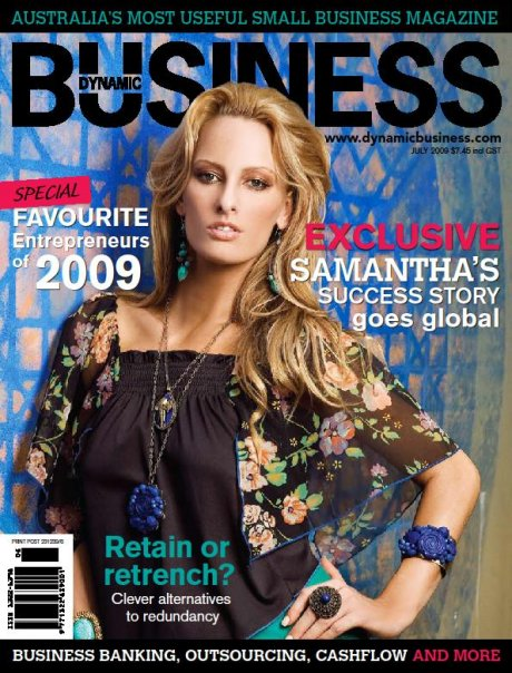 On my first business cover, Dynamic Business.