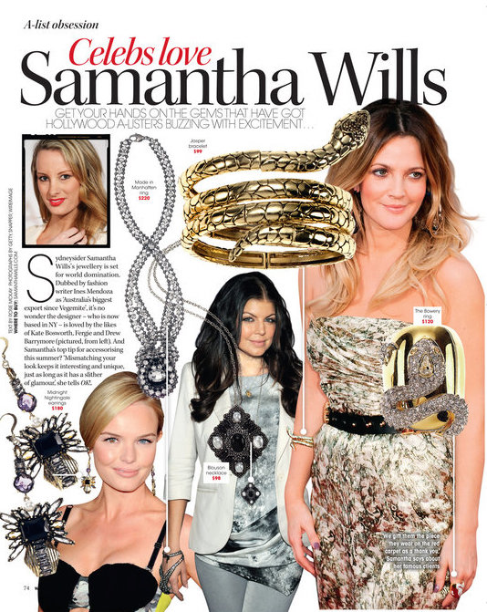 Our celebrity following, featured in OK! Magazine in 2010.