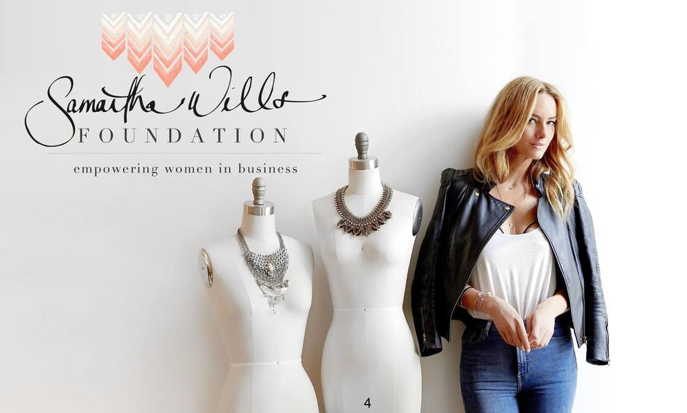 2016: The launch of The Samantha Wills Foundation