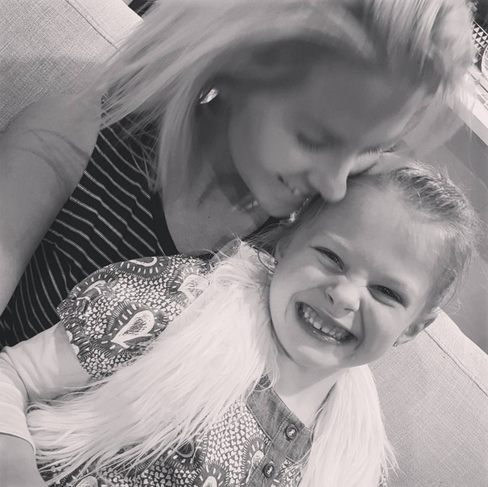 Nicky, and her beautiful daughter, Evie.